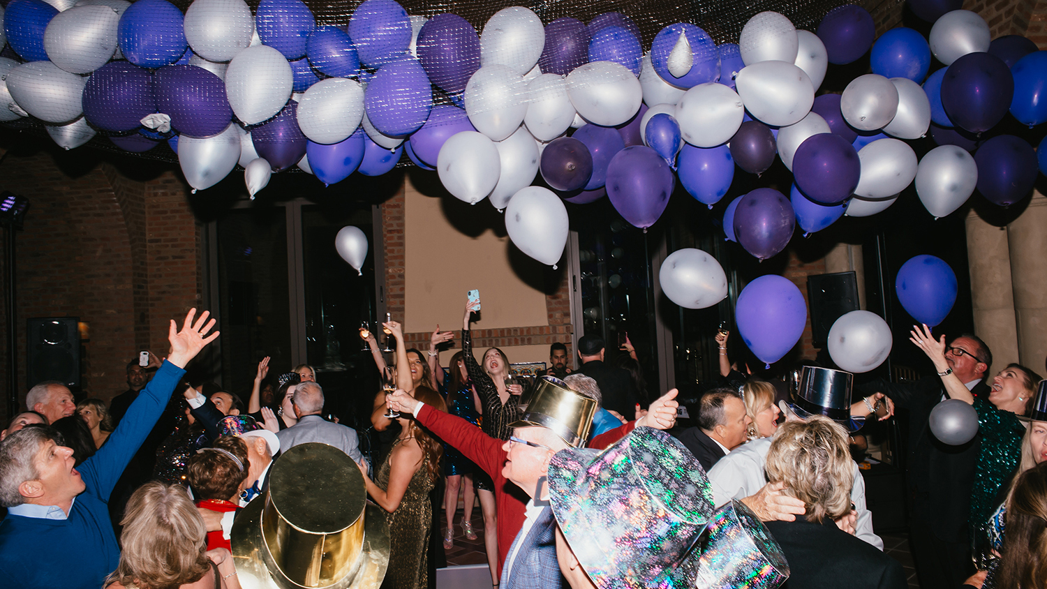 New Year's Eve Balloon Drop at Party