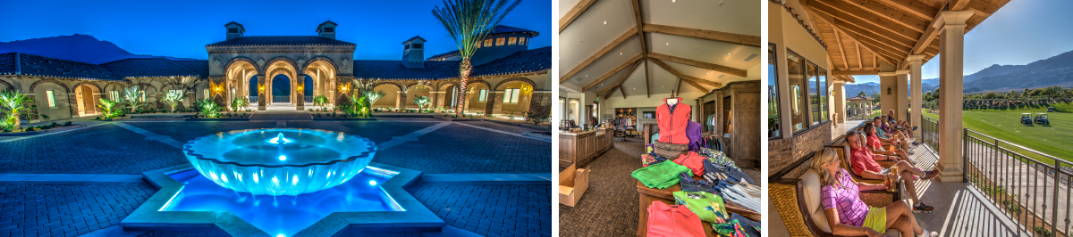 Scenes of golf clubhouse at Andalusia