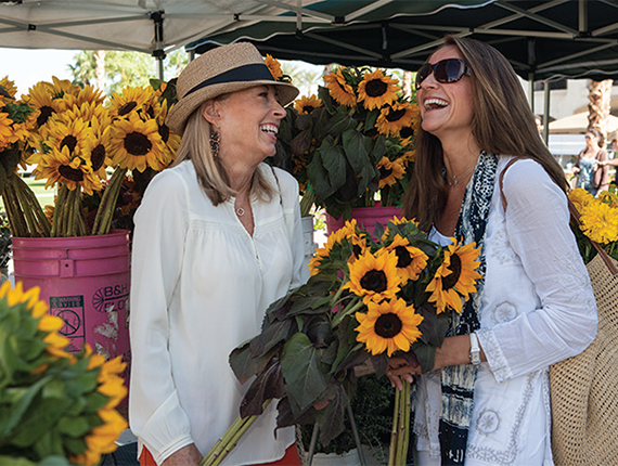 Ladies at farmer's market