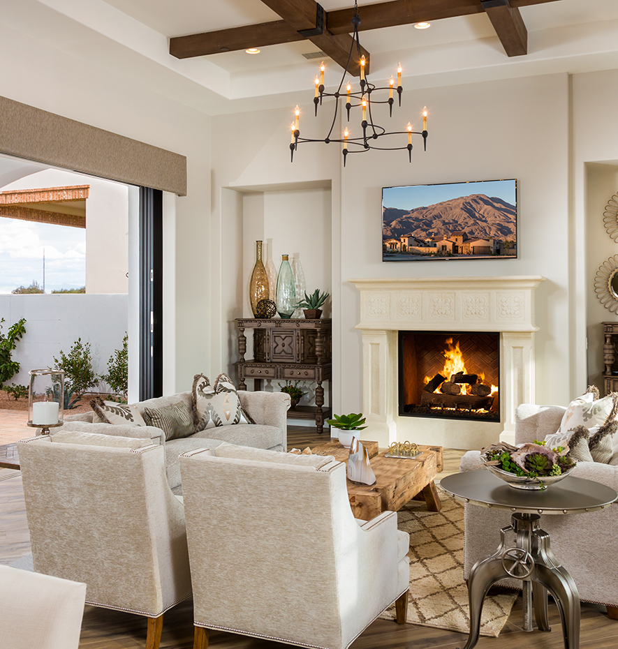 Great Room with Fireplace at Andalusia Home