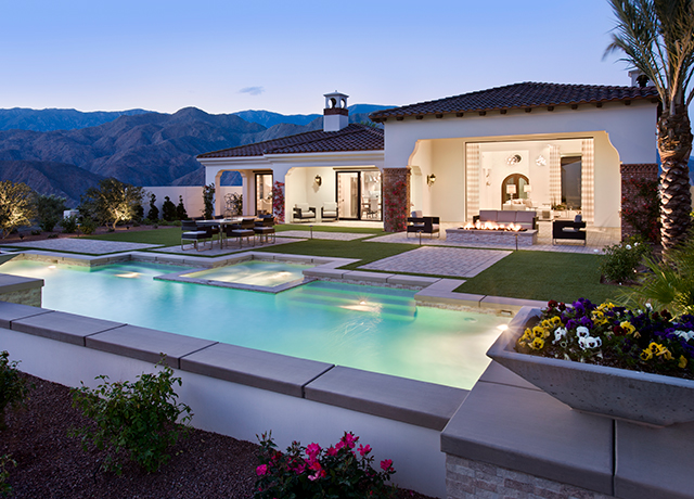 Pool and outdoor living at Andalusia