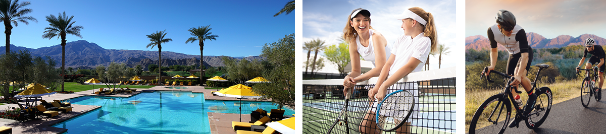 Resort pool, tennis and cycling